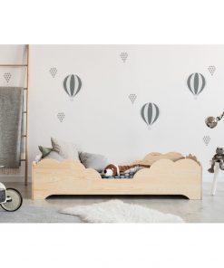 Pat din lemn de pin pentru copii Adeko BOX 10, 80x200 cm
