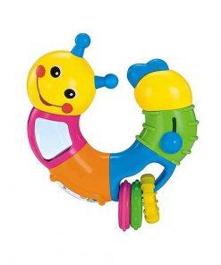 Jucarie interactiva pentru bebelusi, model omida, multicolor - Gonga