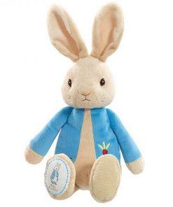 Jucarie bebe de plus Peter Rabbit, Albastru, 26 cm