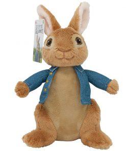 Jucarie bebe de plus Peter Rabbit Movie, Albastru, 23 cm
