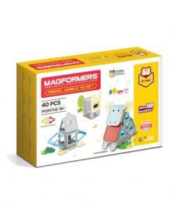 Set magnetic de construit- Magformers Animale, 40 piese