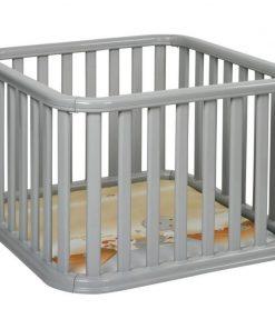 Tarc de joaca copii Recinto Plebani, 100 x 100 x 65 cm, plastic, maxim 14 kg, 6-24 luni, Gri