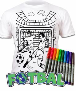 Tricou de colorat cu markere lavabile - Fotbal