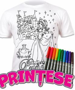 Tricou de colorat cu markere lavabile - Printese