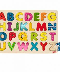 Puzzle lemn alfabet, 26 piese
