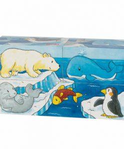 Cuburi puzzle lemn - Safari si Arctic