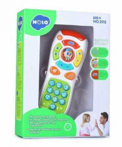 Jucarie pentru bebelusi Hola Toys, prima mea telecomanda muzicala