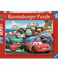 Puzzle Cars - Cursa de masini, 100 piese