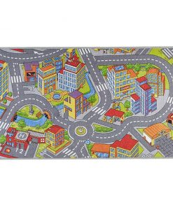 Covor de joaca Smart City Grey 140x200 cm - Hanse Home, Negru,Multicolor 660682