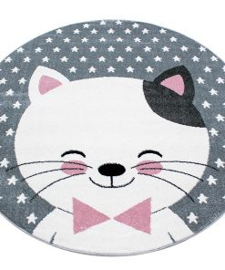 Covor Kitty Round Pink 120 cm - Ayyildiz Carpet, Roz 1179030