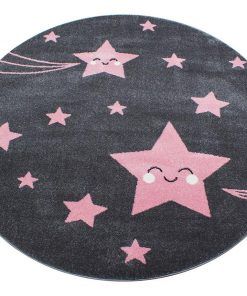 Covor Night Stars Round Pink 160 cm - Ayyildiz Carpet, Roz 1179052