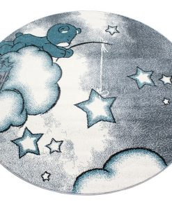 Covor Teddy Bear Round Blue 160 cm - Ayyildiz Carpet, Albastru 1179050