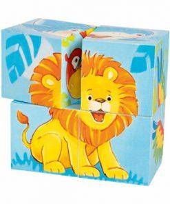Cuburi puzzle - Animale salbatice