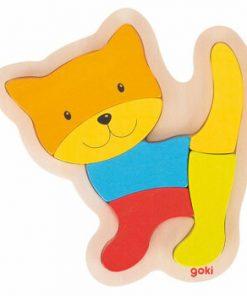 Puzzle lemn pisica, 6 piese