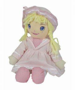 Papusa soft cu hainute roz, 33 cm