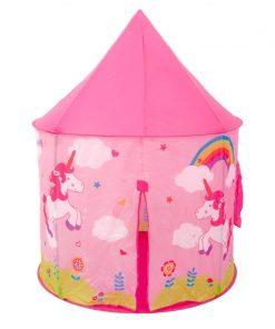 Cort pentru fetite, 100 x 100 x 135 cm, model unicorn, 3 ani+