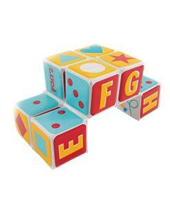 Jucarie educativa Cub magic Ludi, 15 x 15 x 15 cm, PVC, 10 luni+