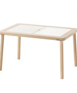 Masuta pentru copii, 83 x 59 cm, lemn masiv pin