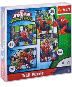 Puzzle copii Spiderman 4 in 1 Trefl, 4 ani+
