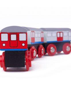 Trenulet metrou Tidlo, prindere pe baza de magneti, 3 ani+