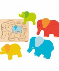 Puzzle multistrat Elefant, 5 straturi