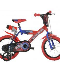 Bicicleta copii Dino Bikes, diametru roata 35 cm, model Spiderman