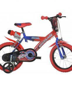 Bicicleta pentru baieti Dino Bikes Spiderman, 16 inch, 5-7 ani, maxim 60 kg