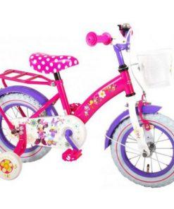 Bicicleta e-l minnie mouse 12 inch cu portbagaj