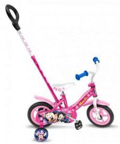 Bicicleta minnie 10 cu bara de impins