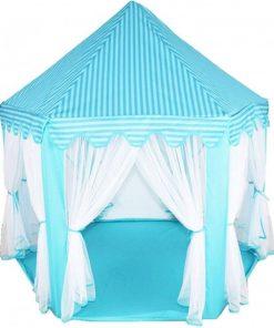 Cort pentru copii Iso Trade, 135 x 135 x 140 cm, pliabil, Albastru