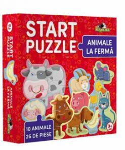 Start Puzzle - Animale la Ferma, 26 piese