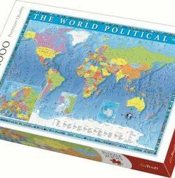 Puzzle Trefl Harta politica a lumii, 2000 piese