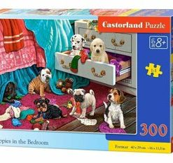 Puzzle Puppies in the Bedroom, 300 piese