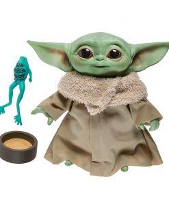 Jucarie interactiva de plus cu sunete Star Wars Baby Yoda, 19 cm