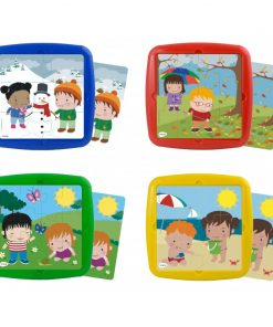 Set 4 puzzle Anotimpuri Miniland, 12 piese
