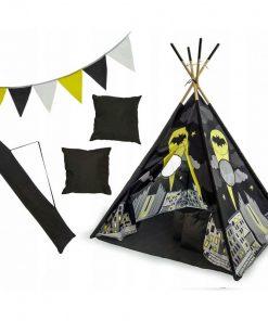 Set cort copii XXL Teepee Tutumi, 120 x 120 x 160 cm, model Batman