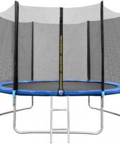 Trambulina cu plasa In One, 180 cm, scarita inclusa, maxim 120 kg, 3 ani+, Albastru