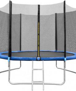 Trambulina cu plasa In One, 244 cm, scarita inclusa, maxim 150 kg, 3 ani+, Albastru