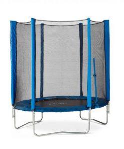 Set trambulina cu plasa de protectie Junior Blue 140 cm PLUM