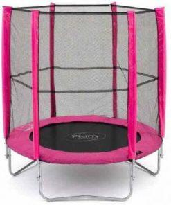 Set trambulina cu plasa de protectie Junior Pink 140 cm PLUM 30101