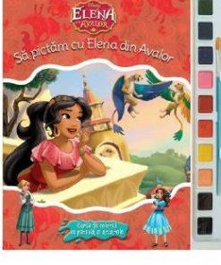 Sa pictam cu Elena din Avalor - Carte de colorat cu pensula si acuarele