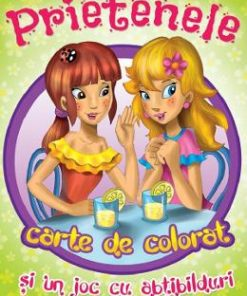 Prietenele. Carte de colorat si un joc cu abtibilduri