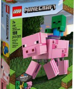 Lego Minecraft. Porc BigFig cu Bebelus de zombi
