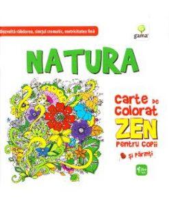 Natura. Carte de colorat Zen pentru copii