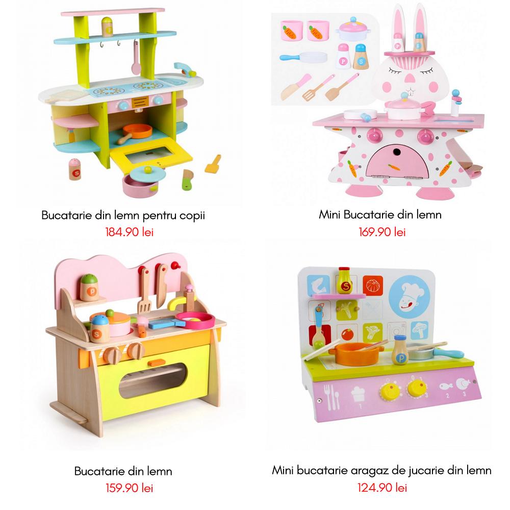 HOMCOM Bucatarie Jucarie pentru Copii 3+ ani 5 Accesorii Sunete Realiste Dulapior
